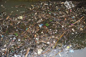 Water canal pollution