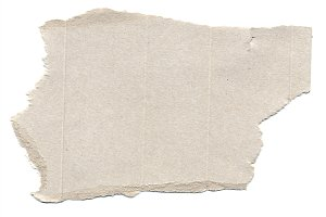 piece of cardboard isolated over white