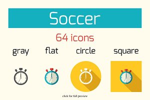 64 Soccer vector icons