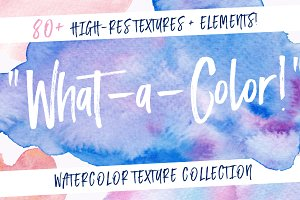 What-A-Color! Watercolor Texture Kit