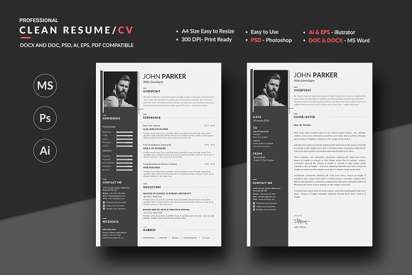 What Does A Resume Need Resume  Cv  Resume Templates  Creative Market Resume File Name with Creat Resume Excel Resume  Cv  Resumes Job Resume Examples For High School Students Pdf