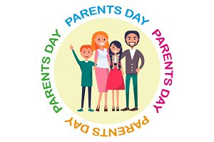 Poster Devoted to Parents' Day Celebration
