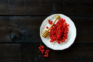 Ripe red currant