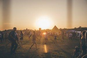 Festival sunset landscape