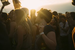 People dance at music festival