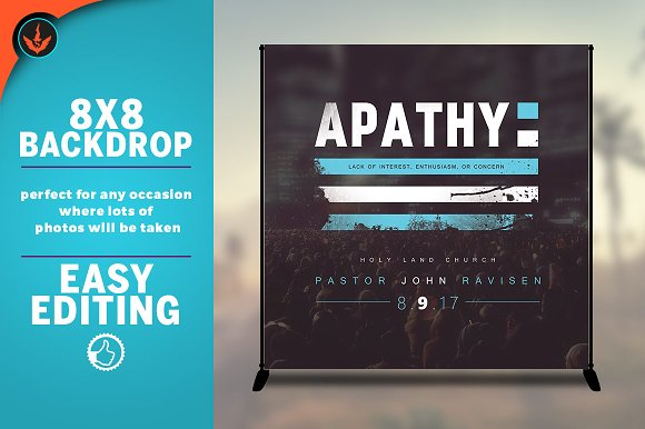 Apathy 8x8 Event Backdrop
