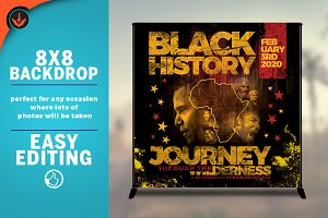 Black History 8x8 Backdrop Template