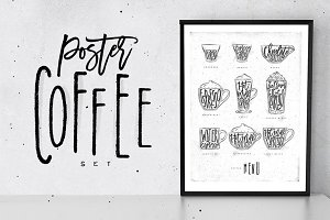 Poster Coffee Set
