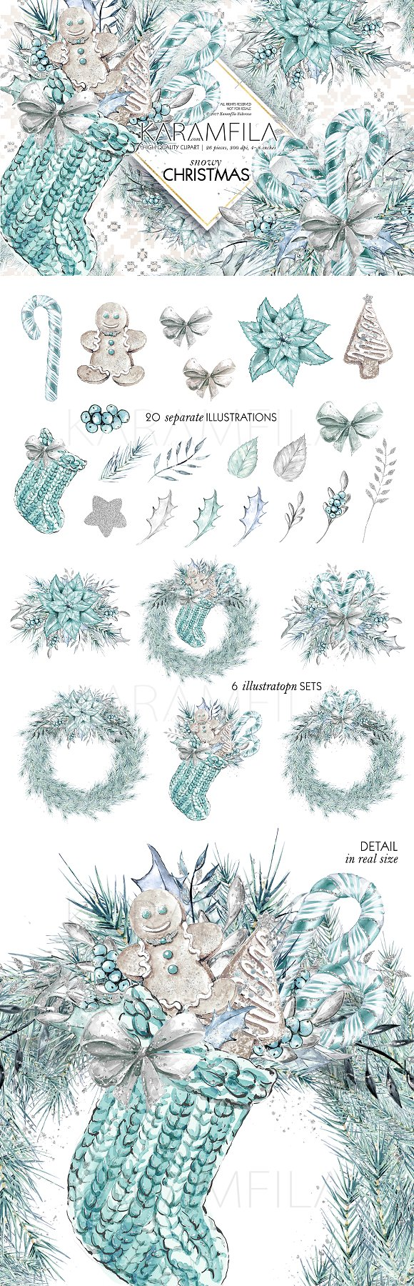 Silver Christmas Clipart