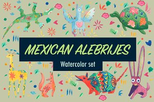 Watercolor Alebrijes