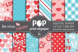 Be Mine Valentine Digital Paper