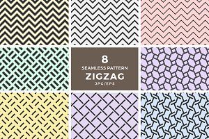 Seamless zigzag chevron patterns