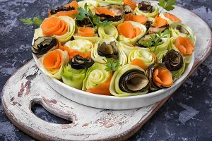 Vegetable chopped spiral