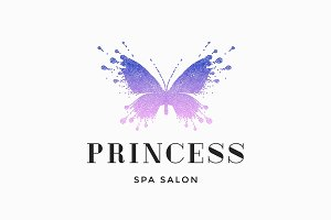 Label of spa salon Princess