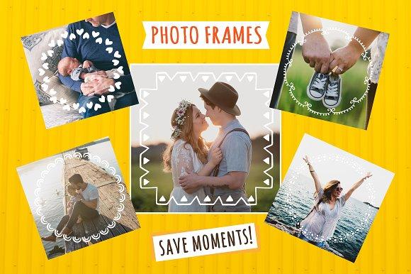 49 Cute Hand Drawn Photo Frames