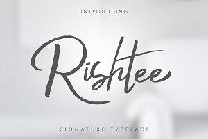 Rishtee Signature Font