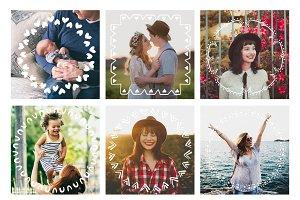 49 Creative Frames Photo Overlays