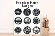 9 Retro Badges