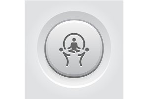 Business Concept Icon. Grey Button Design.