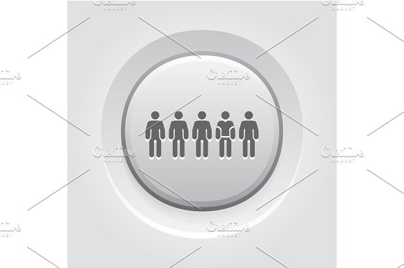 Team Icon Flat DeGrey Button Designsign