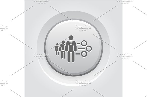 Management Icon Grey Button Design