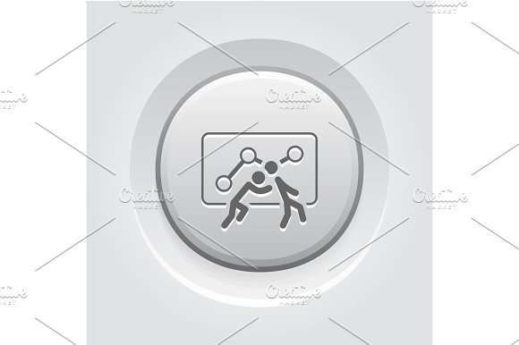 Teamwork Icon Grey Button Design