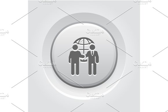 Business Meeting Icon Grey Button Design