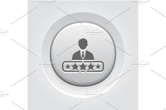 Quality Management Icon Grey Button Design