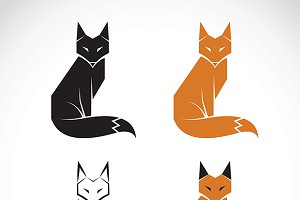 Vector group of fox design.