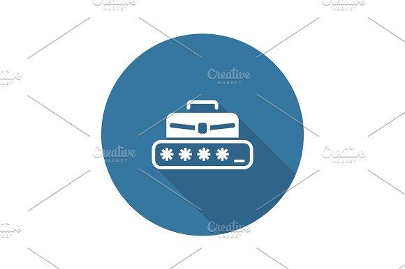Personal Access Icon Flat Design
