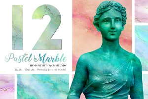 12 Pretty Pastel Marble Backgrounds