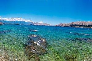 Island Krk: Baska beach