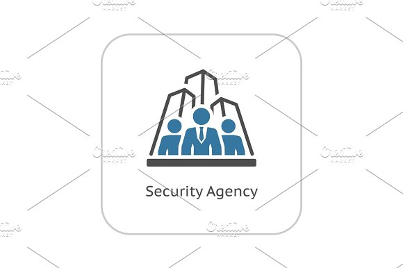 Security Agency Icon Flat Design