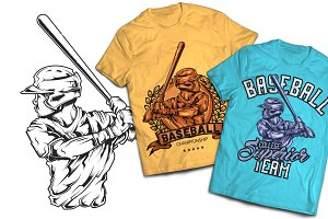 Baseball T-shirts And Poster Labels