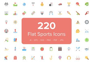 220 Flat Sports Icons
