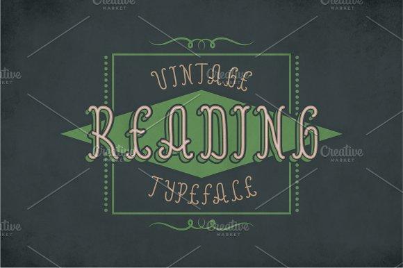 Reading Vintage Label Typeface