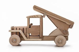 Car wooden model toy.