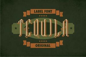 Tequila Vintage Label Typeface