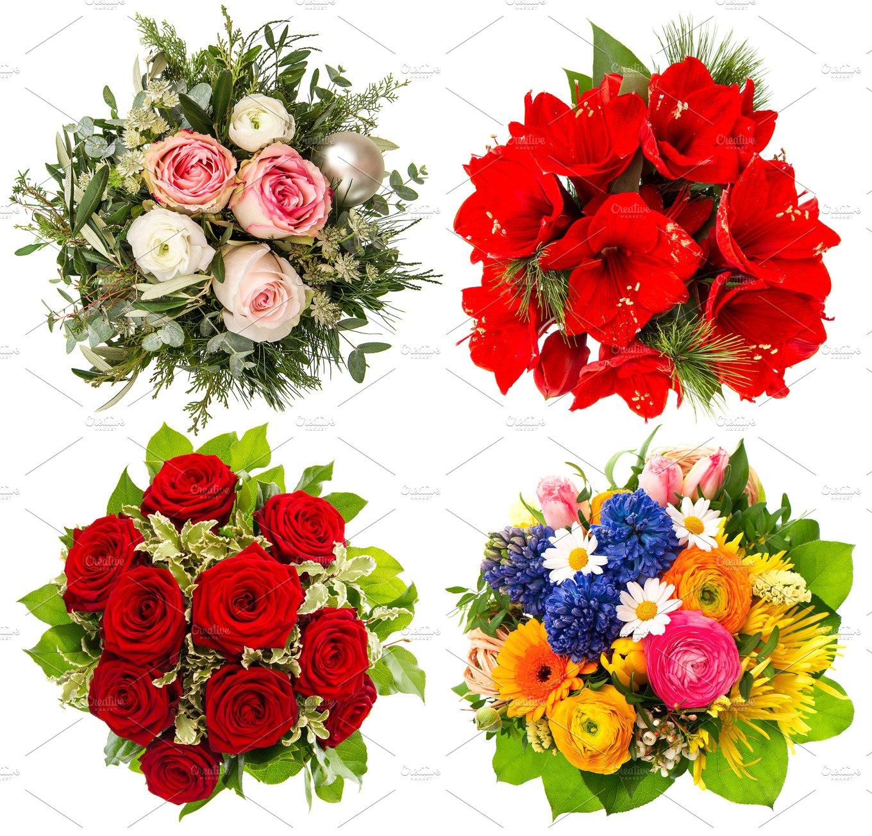 flowers bouquet holiday photos creative market. Black Bedroom Furniture Sets. Home Design Ideas