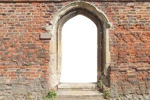 old door with empty blank gate