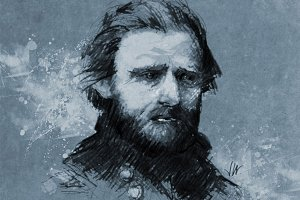Ulysses Grant Portrait Illustration