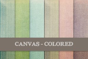 Canvas Texture: Colored, Grungy