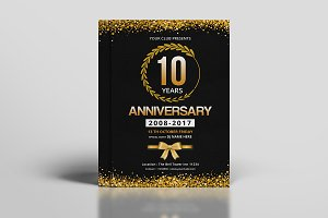 Anniversary Invitation Template-V605