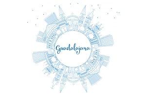 Outline Guadalajara Skyline
