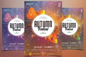 Autumn Festival - PSD Flyer Template