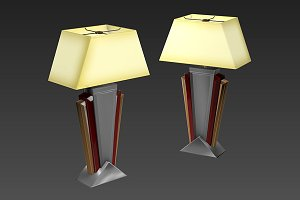 Desk Lamp 01 - Art Deco
