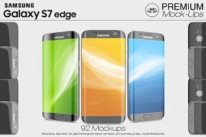 Samsung Galaxy S7 Edge Mockup Set
