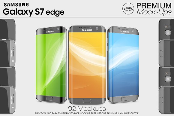 Samsung Galaxy S7 Edge Mockup Set