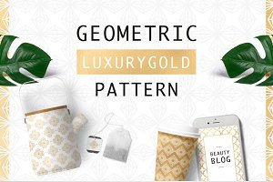 Geometric Luxurygold Pattern