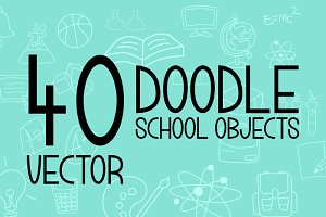Doodle School Objects